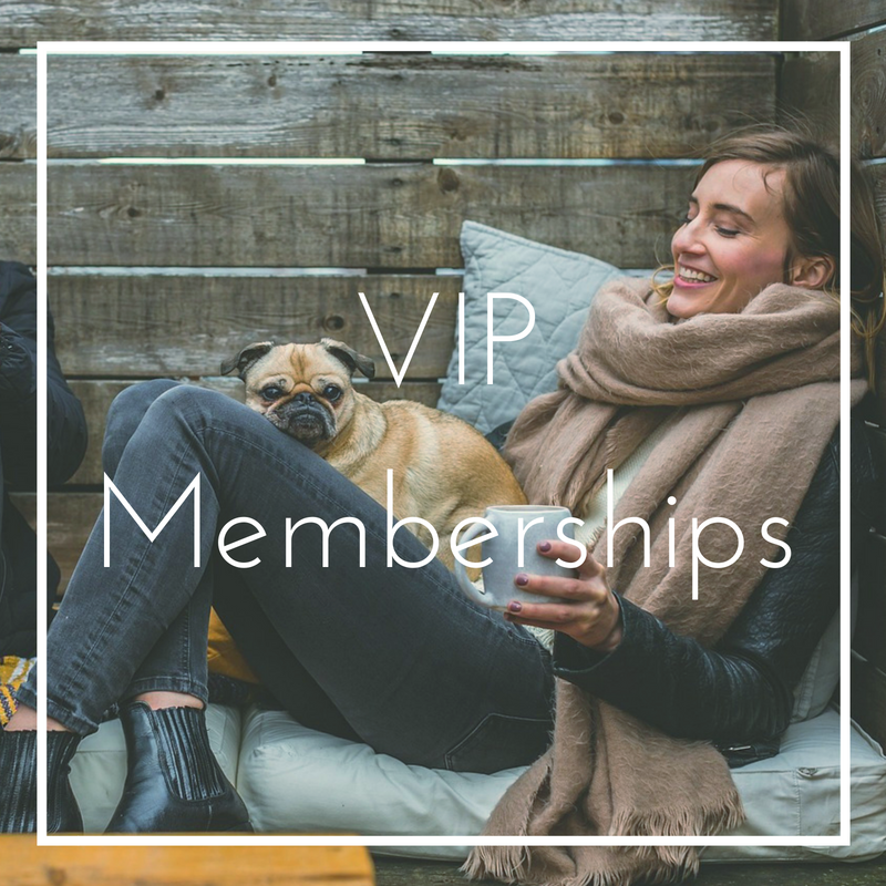 Precision Wellness VIP Memberships Pug and Woman